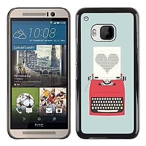 Dragon Case - FOR HTC One M9 - The best is come - Caja protectora de pl??stico duro de la cubierta Dise?¡Ào Slim Fit