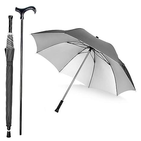 26bc82725f3e6 Saiveina 2-in-1 Separable Walking Stick Umbrella, Windproof UV Protection Cane  Umbrella