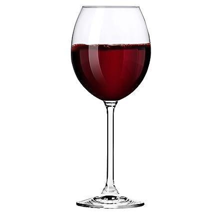 Krosno Europe Non-Lead Crystal-Clear Glass, Venezia Red Wine, 350 Ml Set of 6