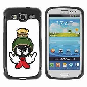 A-type Arte & diseño Anti-Slip Shockproof TPU Fundas Cover Cubre Case para Samsung Galaxy S3 III / i9300 / i717 ( Cool Catoon Toons )