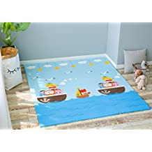 Little Bot baby foam play mat, non-toxic, odourless and ultra-cushioned. 180cm by 150cm. Pirates and Alphabet by Little Bot