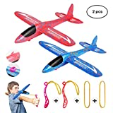 MIMIDOU New Aerobatic Slingshot Plane 2 flight mode 2 pack glider airplane throwing foam aircraft outdoor sports flying toy for kids as gift,by