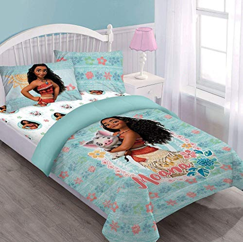 - Disney Princess Moana & Pua Twin Sized 3 Pieces Bedding Set