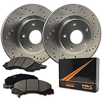 1998-2002 Ranger 2WD KT054931 Fits: 1995-2001 Ford Explorer 2WD Premium Slotted Drilled Rotors + Ceramic Pads Max Brakes Front Performance Brake Kit 1997-2001 Mercury Mountaineer 2WD