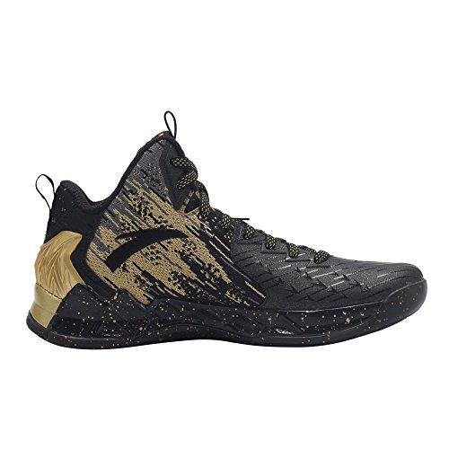 Scarpe Da Basket Anta Mens Kt2 La Caccia Via-nero / Oro