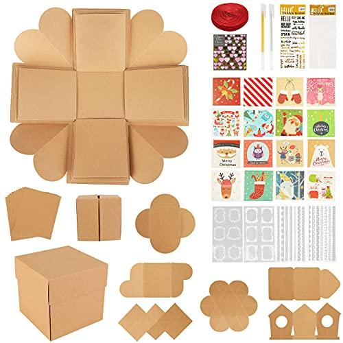 Koogel Explosion Box Set, Christmas Album Gift Box Creative Album Surprise Album Sticker Box for Marriage Proposals Making Surprises Birthday