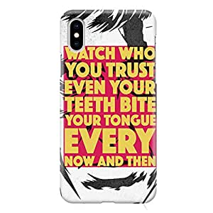 Loud Universe Movie Quote Scarface iPhone XS Max Case Trust Friends iPhone XS Max Cover with 3d Wrap around Edges