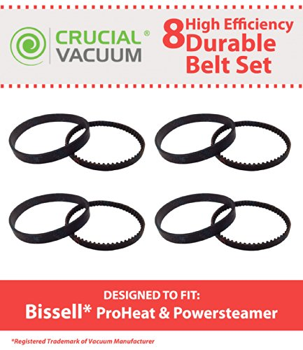 Think Crucial 8 Replacement for Bissell ProHeat Steamer Belts, Compatible With Part # 0150621 & 2150628 by Crucial Vacuum