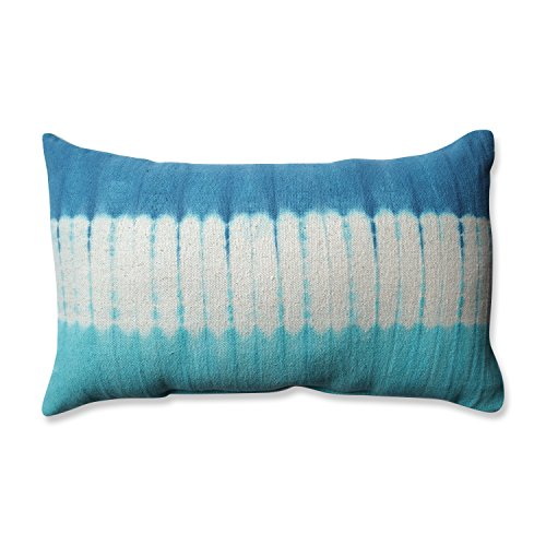 Band Pillow (Pillow Perfect Shibori Bands Bolster Throw Pillow, Teal/Turquoise)
