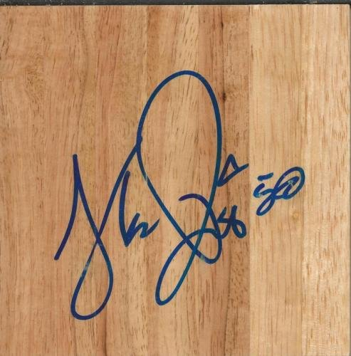 Theo Floor - Theo Ratliff Signed 6x6 Floorboard Wyoming Pistons 76ers Lakers