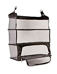 Travelon Deluxe Packable Shelves With Zippered Compartment, Black, One Size