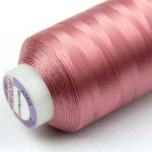 2-ply Cottonized Polyester 80wt WonderFil Specialty Threads DecoBob Dusty Rose