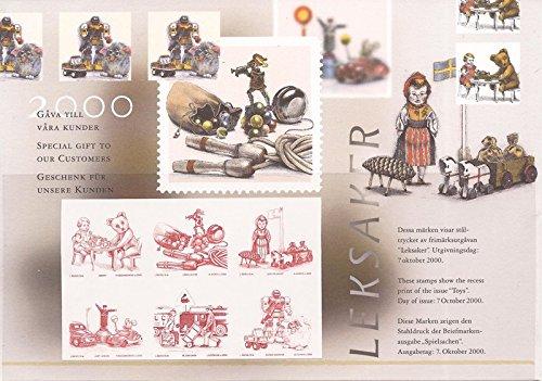 Sweden - 2000 Toys - Special Sheet Showing Recess Print - Scott - Sweden Usps