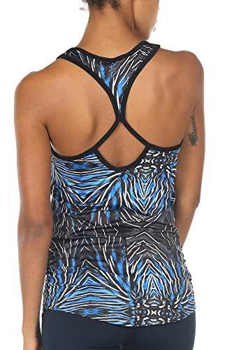 icyzone Workout Yoga Fitness Sports Racerback Tank Tops for Women (L, Plume)