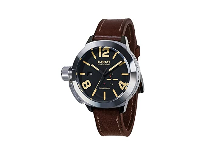 Reloj Automático U-Boat Classico Tungsteno Movelock, Acero, Negro, 45 mm,