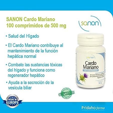 SANON - SANON Cardo Mariano 100 comprimidos de 500 mg: Amazon.es: Salud y cuidado personal
