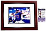 Rogers Clemens Signed - Autographed Toronto Blue Jays 11x14 inch Photo MAHOGANY CUSTOM FRAME - Certificate of Authenticity - JSA Certified