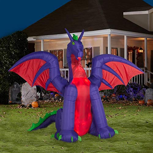 Holiday Living 9.02-ft x 10.99-ft Animatronic Lighted Dragon Halloween Inflatable by Holiday Living (Image #3)
