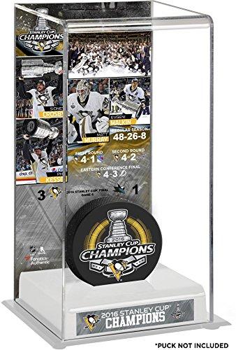 penguins hockey puck display case - 1