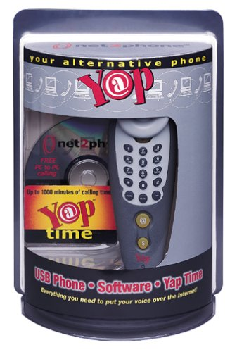 Net2Phone Yap USB Handset Phone with Software and 1000-Minute Phonecard (100-4001)