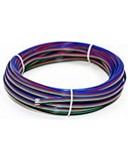 Cable de calibre 22 15m RGB de 4 pines Cable de extensión Cable de 4 colores para una sola tira de LED 3528 5050