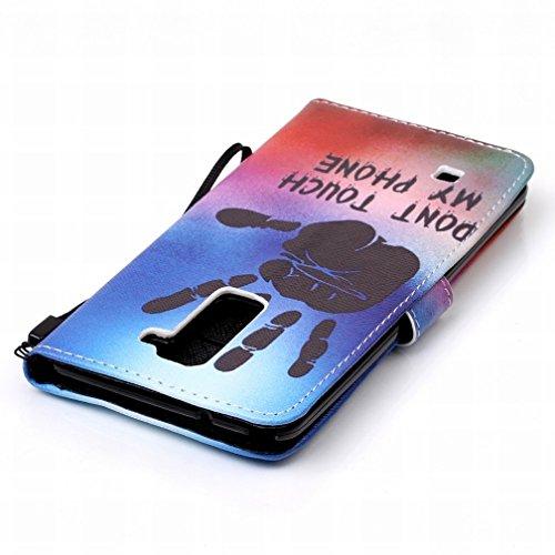 Yiizy LG Stylo 2 LS775 Funda, Palma Diseño Solapa Flip Billetera Carcasa Tapa Estuches Premium PU Cuero Cover Cáscara Bumper Protector Slim Piel Shell Case Stand Ranura para Tarjetas Estilo