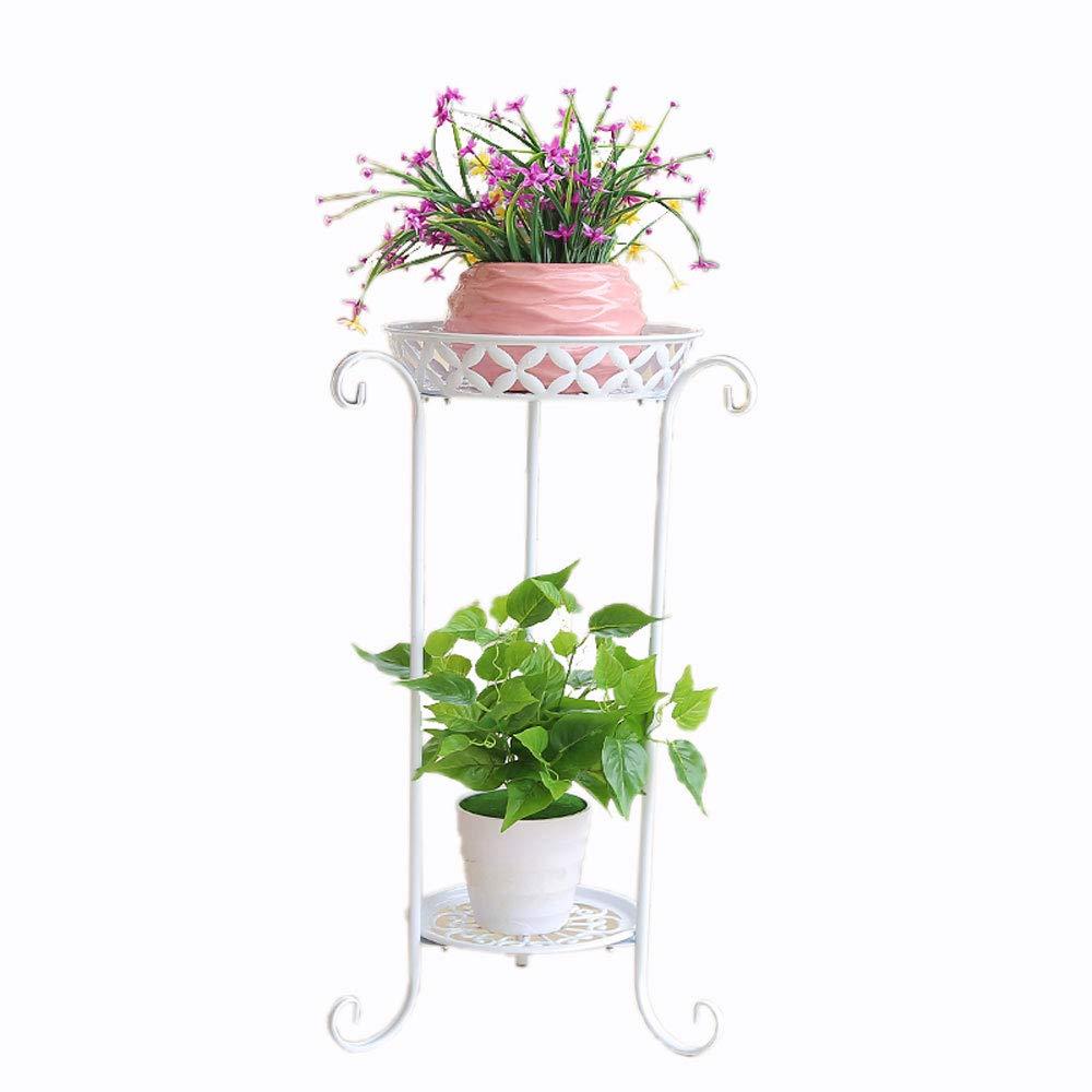 Bianco fiore europeo in ferro battuto stand multi-layer balcone soggiorno indoor e outdoor vaso di fiori cremagliera pavimento in piedi verde ravanello carne pavimento del fiore ( dimensioni   M )
