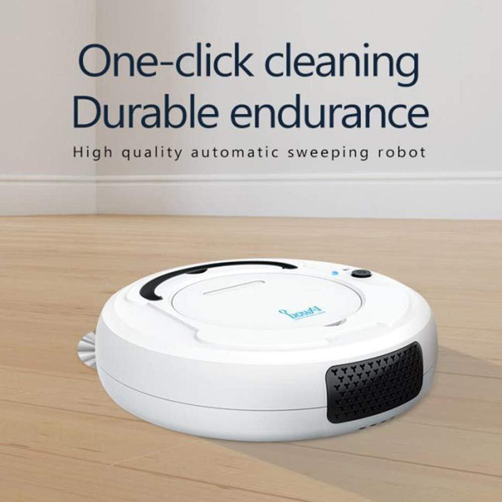 Ice-Beauty-ukzy Aspirateur Robot, Capteurs de Poussire Dirt Detect, Aspiration Puissante, 1800Pa Forte Puissance D\'aspiration, Fonctionnement Facile Grey Grey