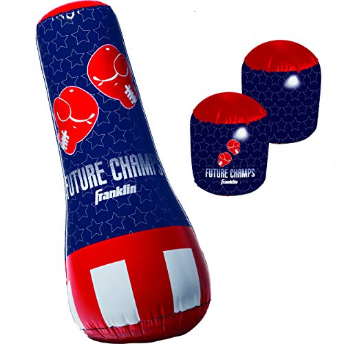 Inflatable Punching Gloves (Franklin Sports Inflatable Punching Bag & Glove Set - Future Champs - 42 x 19 x 19)