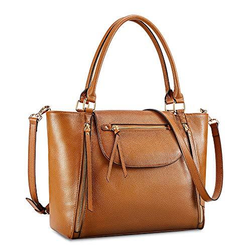 Kattee Genuine Leather Tote Bag for Women, Large Shoulder Purse Designer Satchel Handbag