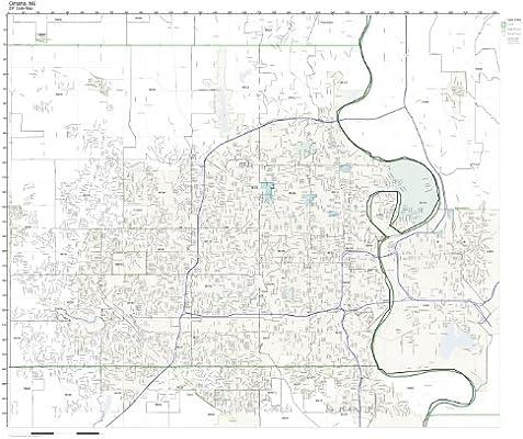 Amazon.com: ZIP Code Wall Map of Omaha, NE ZIP Code Map Not ... on