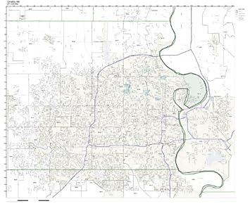 Amazon Com Zip Code Wall Map Of Omaha Ne Zip Code Map Laminated