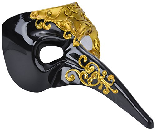 Long Nose Mask Costume (Venetian Masquerade Mask Drama Ball Long Nose Mask Joker Party Mask)