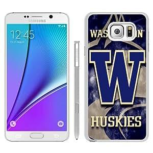washington huskies White Special Custom Picture Design Samsung Galaxy Note 5 Phone Case