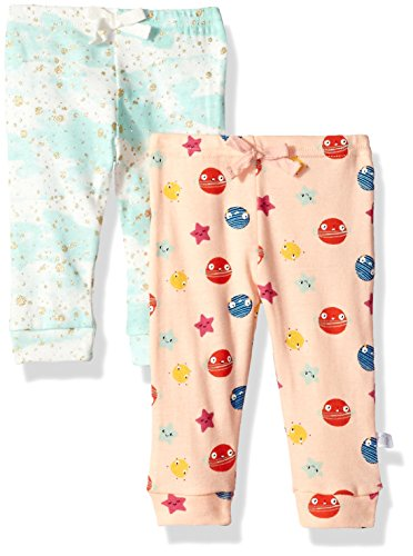 Rosie Pope Girls Baby 2 Pack Pants (More Options Available), Galaxy Theme, 3-6 Months