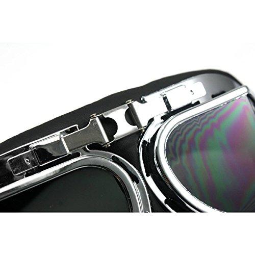 brun poussière UV Lunettes Lunettes Moto Lunettes protection Lunettes Protection ski fonc¨¦ Lens Ski de Goggles Fletion de Anti w1qaAOH