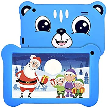 Pill for Children, 7 inch Children Pill Android 9.0 2GB 16GB Studying Pill with IPS Eye Safety Display Twin Cameras WiFi GMS Licensed Children Proof Youngsters Tablets Father or mother Management, Blue