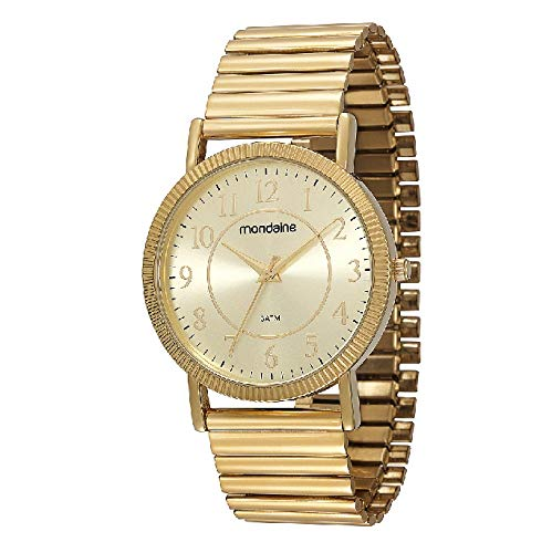 Relógio Mondaine Feminino Elastica Folhado 83205Lpmvde1
