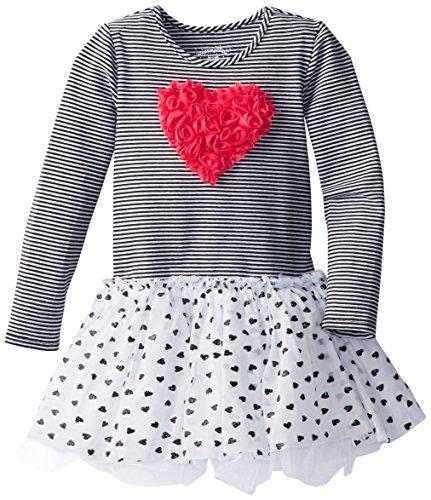 Heart Applique Tulle Rosette Tutu Dress for Toddler Girls