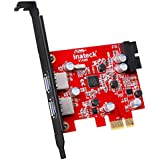 Inateck 2-Port PCI-E USB 3.0 Express Card, Mini PCI-E USB 3.0 Hub Controller Adapter with Internal USB 3.0 20-PIN Connector - Expand Another Two USB 3.0 Ports - No Additional Power Connection Needed