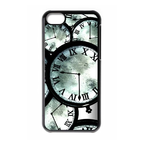 Steins Gate coque iPhone 5c cellulaire cas coque de téléphone cas téléphone cellulaire noir couvercle EEECBCAAN01590