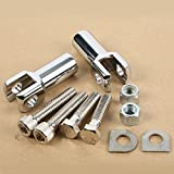 XMT-MOTO Chrome Foot Peg Supports Mounts Clevis Kits For Harley Softail 2000-2006(Replaces Harley Davidson part #50942-00)