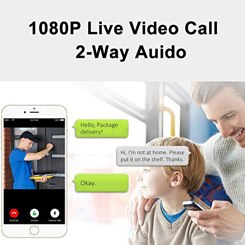 HOSAFE Wireless Doorbell Camera with Chime, 2-Way Video and Audio, 1080P Night Vision, IP66 Waterproof, Wide View Angel, Built-in 32G SD Card, Cloud Storage