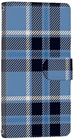 [FFANY] Galaxy S10 (SC-03L・SCV41) スマホケース 手帳型 ミラータイプ [ガーリー・ブルー] チェック柄 格子柄 シンプル ギャラクシー エステン スマホカバー 携帯ケース check 190402m