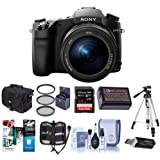 Sony Cyber-Shot DSC-RX10 III Digital Camera, Black - Bundle With Camera Case, 72mm Filter Kit, 64GB SDXC U3 Card, Spare Battery, Tripod Memory Wallet, Card Reader, Cleaning Kit, Software Package