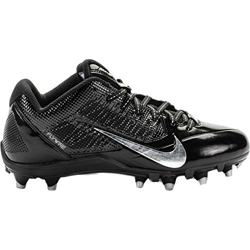 Mens Nike Alpha Pro TD Football Cleats (Black/Metallic Silver, Size 11.5)