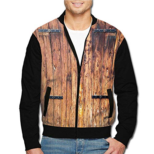 Men's Fashion Casual Printed Long-Sleeve Jacket and Coats