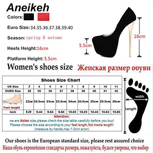 Amazon.com  HuWang Pumps Wedding Women Fetish Shoes Concise Woman Latform Very  High Heel Stripper Flock 16 cm Size 34-40  Garden   Outdoor 1a0fa4604fd8