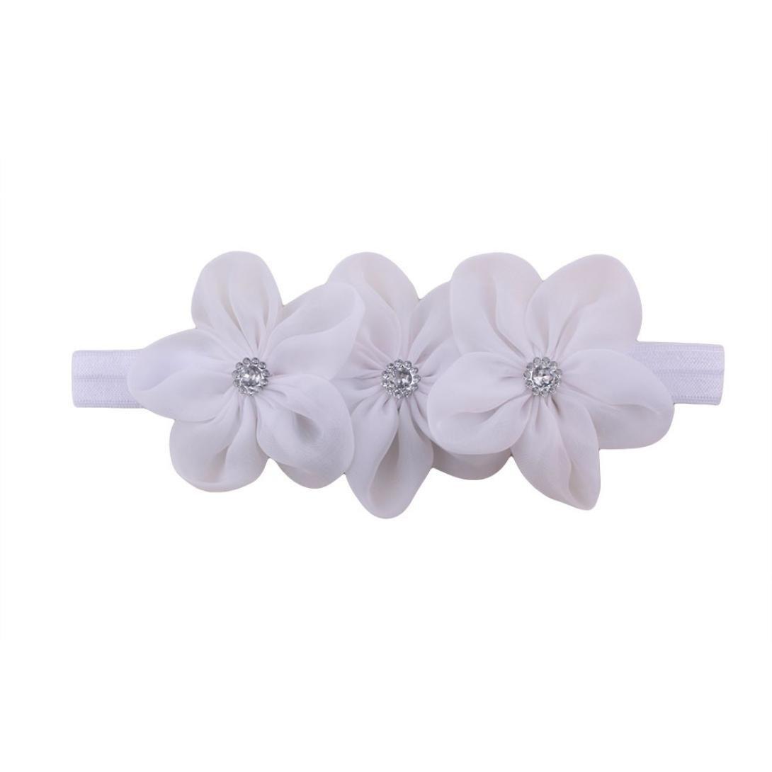Igemy- Kids Girls Elastic Floral Headband Hair Baby Girls Flower Hair Band