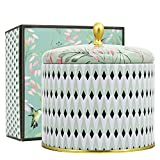 Scented Candles 14Oz White Tea Large Tin Candle 2 Wicks Natural Wax, Gift Candles for Birthday and Holidays